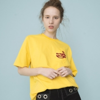 Slanted Pocket T-shirts (YELLOW)