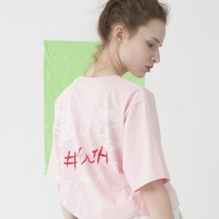 Slanted Pocket T-shirts (PINK)