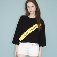 Oversized Batwing T-shirts (BLACK)