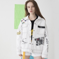 Artist Hommage Denim Trucker Jacket (WHITE)