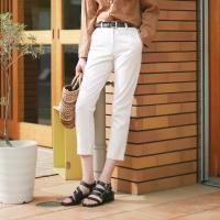 Cotton basic slim pants