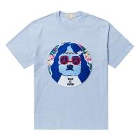 JOHN-MUSIC DOG PATCH 1/2 TS SKY BLUE