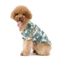 강아지 하와이안 셔츠 - 화이트