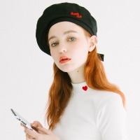 Heart Ribbon Beret (2colors)