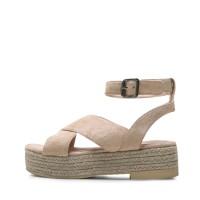 kami et muse Espadrille platform cross strap sandals_KM17s158
