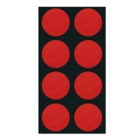 폼텍 마이스티커 도트 04 레드 25mm 시트 [10시트]
