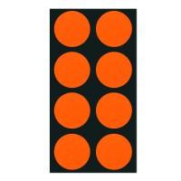 폼텍 마이스티커 도트 03 오렌지 레드 25mm 시트 [10시트]