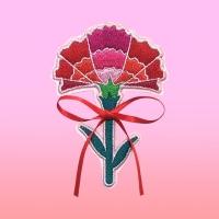 땡스플라워_자수카네이션 vol.4 (핑크)+용돈봉투