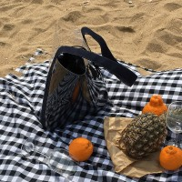 pvc vacation bag - navy color