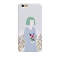 A Gril Holding a Flower (HF-140A) Hard Case