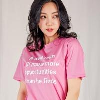 베이직 레터링 티셔츠_(518911)