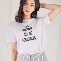 페미닌 레터링 티셔츠_(518912)