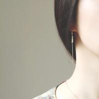 담수진주, simple chain stick 이어링