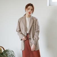 Classic line linen jacket