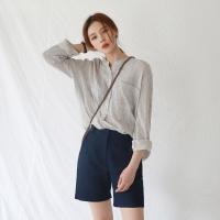 Natural stripe henley shirt