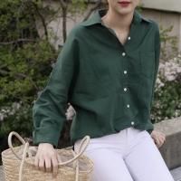 [by fromfit] 버킨 린넨 셔츠 (GREEN)