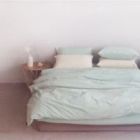 에스타도 천연염색 호텔베딩(80수) - 민트 (싱글/슈퍼싱글)