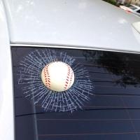3D 야구공 자동차 스티커