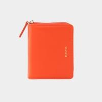 [살랑]Dijon 301 Layer ZIpper Wallet coral orange