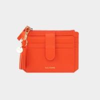[태슬+스트랩증정]Dijon 301S Flap mini Card Wallet coral orange