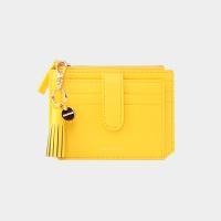 [태슬+스트랩증정]Dijon 301S Flap mini Card Wallet lemon yellow