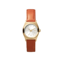 SMALL TIME TELLER LEATHER (LG/SADDLE)