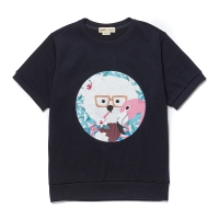 [8/4출고] COCONUT DOG PATCH 1/2 SWEAT SHIRT NAVY