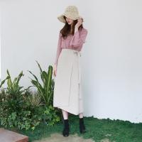Natural unbalance wrap skirt