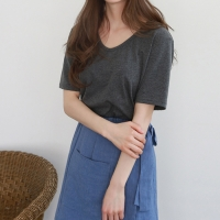 Daily soft u-neck tee