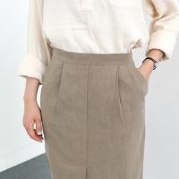 modern linen skirt