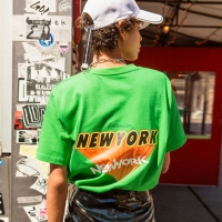 UNISEX NEW YORK LOGO T-SHIRT atb146u(Green)