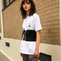 UNISEX NEW YORK LOGO T-SHIRT atb146u(White)