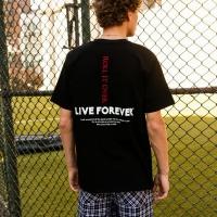 UNISEX LIVE FOREVER T-SHIRT atb145u(Black)