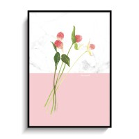 꽃일러스트 포스터 인테리어 액자 천일홍