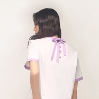[아이어클락] BACK POINT BLOUSE_LIGHT PURPLE