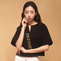 [아이어클락] BIG LOGO CROP T-SHIRT_BLACK
