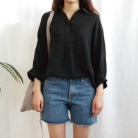 Cool collar blouse