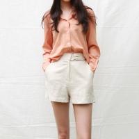 Belt ribbon short pants