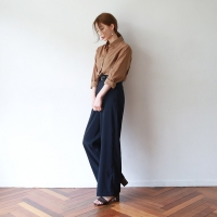 Long straight slim slacks