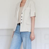 Stripe half sleeve jacket