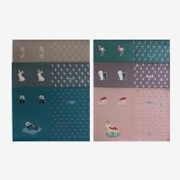 [Fabric] My favorite 동물친구들 가죽컷트지 6종
