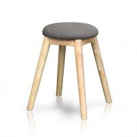파로마 원목쿠션의자/화장대의자/의자/스툴의자