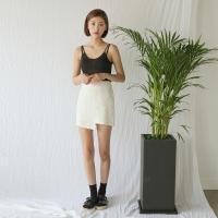 unbal point linen skirt