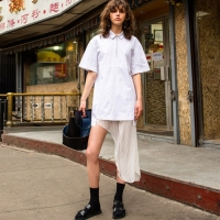 SHAMAN POPLIN DRESS atb141w(White)