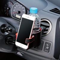 송풍구에 설치하는 컵홀더 겸용 스마트폰 거치대 P-CARDH01