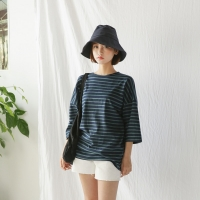loose fit stripe tee