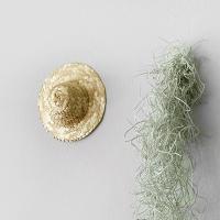 미니 밀짚 모자