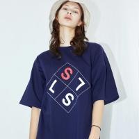 [SLSL] Square logo-T(navy)
