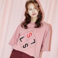 [SLSL] Square logo-T(pink)