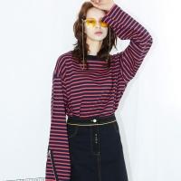 [SLSL] Zipper-sleeves-T(red)